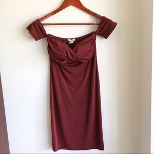 Bozzolo off the shoulder dress